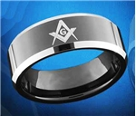 Master Masons Stainless Steel & Tungsten Rings