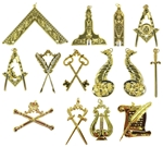 Gold Blue Lodge Officers Jewels