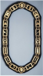 Blue Lodge Gold Plate Masonic Chain Collar