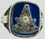Past Master Enamel Silver Ring 11002