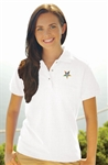 A Ladies IZOD Silkwash Pique Polo