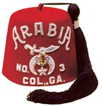 The Rhinestone Embroidered Shrine Fez -Single Row - Felt