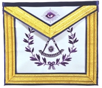 Masonic Past Master Apron with Silk Embroidery