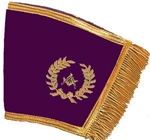 Grand Officer Purple Velvet Gold Bullion Cuffs