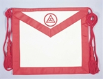 Leather Royal Arch Mason Apron with Officer Emblem