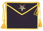 Purple Velvet Patron Apron with square & compass in star