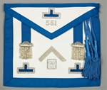 Pennsylvania Past Master Apron with Bullion Cadet Blue trim and Silver Bullion