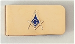 Masonic Money Clip Gold finish