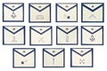 Blue Lodge Officer Apron Lapel Buttons - Individual Officer