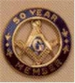 10K Gold Masonic 50 Years of Service
