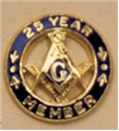 10K Gold Masonic 25 Years of Service