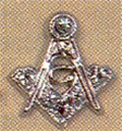 Masonic Lapel Button in silver