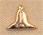 Junior Warden Plumb Lapel Button  in 10K
