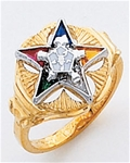 Order of the Eastern Star Ring Macoy Publishing Masonic Supply 3452