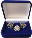 Past Master Tie Tac and Cuff Links set