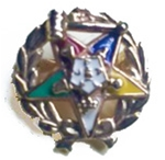 O.E.S. Past Matron 10K Gold Pin with Gavel at Top