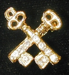 OES Treasurer Charm Goldtone