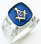 "Master Mason ring Square face with S&C and large ""G"" - 10K YG"