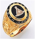 Gold Past Master Rings