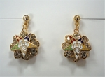 Eastern Star crystal pierced earrings
