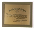 Meritorious-Certificate-on-Brass-Plate-and-Hardwood-Frame-P3904.aspx
