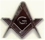 Masonic Auto Emblem Chrome Plated Plastic