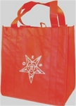 OES  Grocery tote red w/white emb.