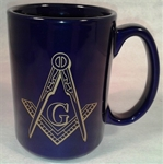 Masonic 15oz Mug with micro gold emblem