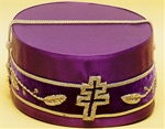 33 degree Purple Silk Hard sides with Patriarchal Cross and vinework