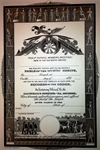 Nobles of the Mystic Shrine Member Certificate