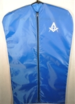 "Mens 40"" suit bag Blue/White with Masonic emblem"