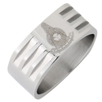 Stainless Steel Past Master Ring High Polish Finish