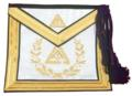 Past Thrice Illustrious Master Apron with wreath and Gold Bullion Embroidery