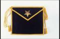 Purple Velvet Patrons Apron with embroidered Star