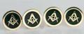 Masonic Stud Set in gold filled