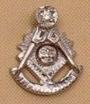 Past Master Lapel Button in 10K WG with diamond