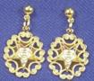 Eastern Star filigree pierced earrings