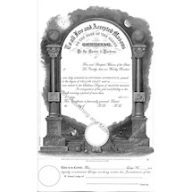 "Masonic Member Certificate - F&AM ""Years as member"""