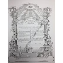 Masonic Membership Certificate AF&AM  Four Language