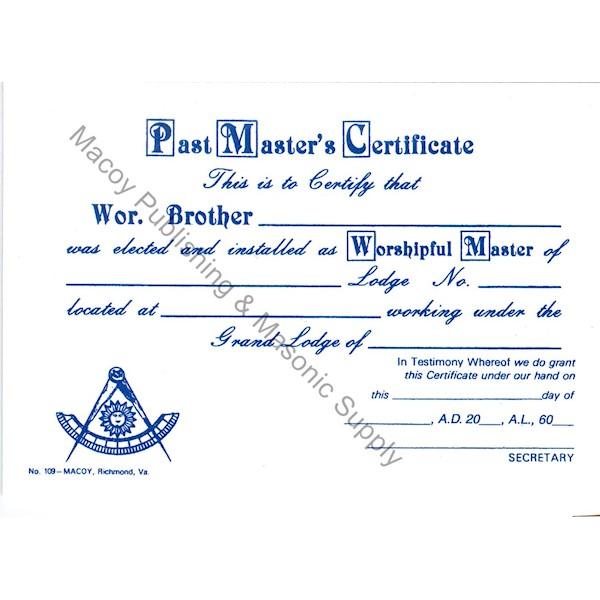 Masonic Past Master Wallet Card (12)