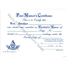 Masonic Past Master Wallet Card (12)