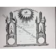 Prince Hall Knights Templar Member Certificate