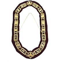 Royal Arch gold Chain Collar with red lining