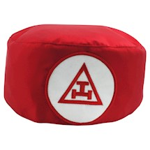 Royal Arch Skull Cap Red white patch