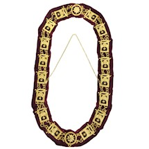 Shrine gold Chain Collar with lining