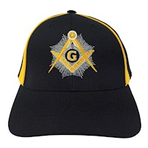 Contrasting Black & Gold Masonic Ball Cap