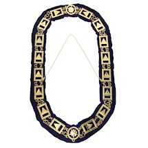 33RD Degree Scottish Rite gold Chain Collar purple lining