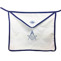 MM Cloth Apron with Blue Trim 13 x 15  (Set of 12)