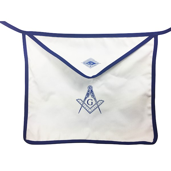 Masonic Aprons Cloth 14 x 16 inch with Blue Trim - Sold by the dozen