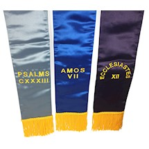 Masonic Embroidered Altar Bible markers - Set of 3